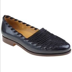 EARTHIES | Fontana Leather Pointed Toe Loafers